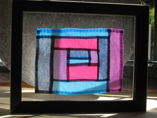 Pojagi patchwork finished and framed!